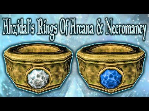 Skyrim SE - Ahzidal's Rings Of Arcana & Necromancy - Unique Rings Guide
