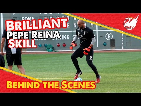 jose - Liverpool's Pepe Reina shows his brilliant touch and skill against Jose Enrique during the open training session at Fenway Park in Boston... The Redmen TV is Uncensored LFC Television... ...