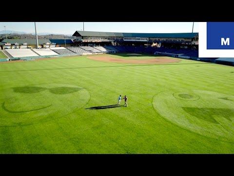 Pro Groundskeepers Turn Baseball Field Into Giant Emoji