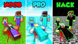 Minecraft NOOB vs. PRO vs. HACKER: WHO KILLED THE NOOB CHALLENGE in Minecraft! (Animation)