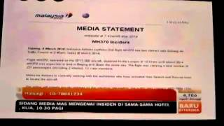 MAS MH370 Malaysia Airlines