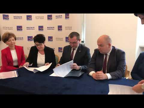 Wideo1: Podpisanie umowy Leszno - PFRON