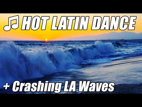 Hot Latin Salsa Jazz Dance Music + Big Crashing Waves from Hurricane Flooding Beach shot on iPhone