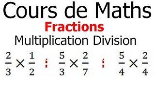 Maths 6ème - Fractions multiplication et division Exercice 1