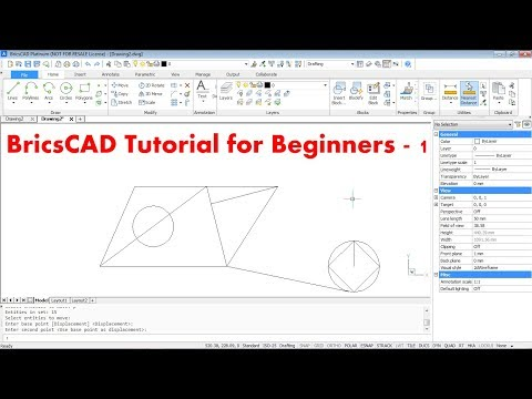 BricsCAD Tutorial for Beginners - 1