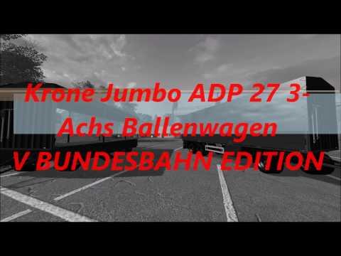 Krone Jumbo ADP 27 3-axis Ballcarts