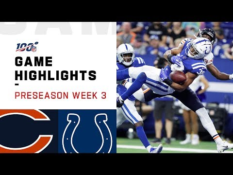 Bears vs. Colts Preseason Week 3 Highlights  NFL 2019