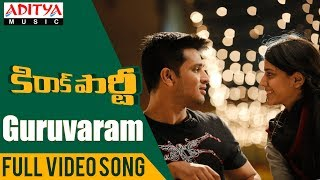 Video Guruvaram Full Video Song | Kirrak Party Video Songs | Nikhil Siddharth | Simran | Sharan Koppisetty MP3, 3GP, MP4, WEBM, AVI, FLV Oktober 2018