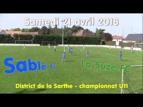 U11 Sablé - La Suze 21 avril 2018