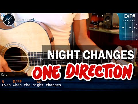 Como tocar Night Changes de ONE DIRECTION En Guitarra PRINCIPIANTES (HD) Tutorial Acordes
