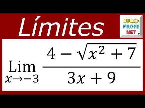 Límite con racionalización y factorización