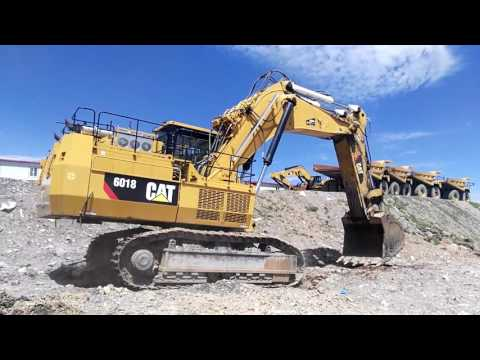 CATERPILLAR PALA PARA MINERÍA / EXCAVADORA 6018 equipment video eZfeF_YLZck