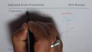 Understand Basic Concept for Odd and Even Functions