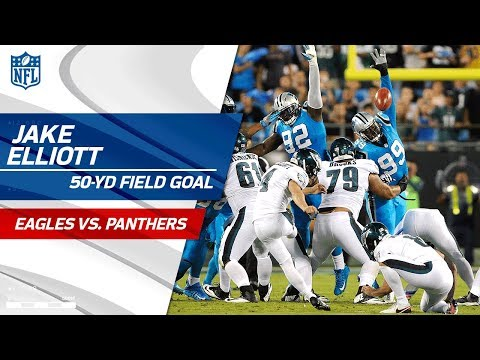 Video: Wentz Leads Big Drive Capped Off by Jake Elliott's 50-Yd FG! | Eagles vs. Panthers | NFL Wk 6