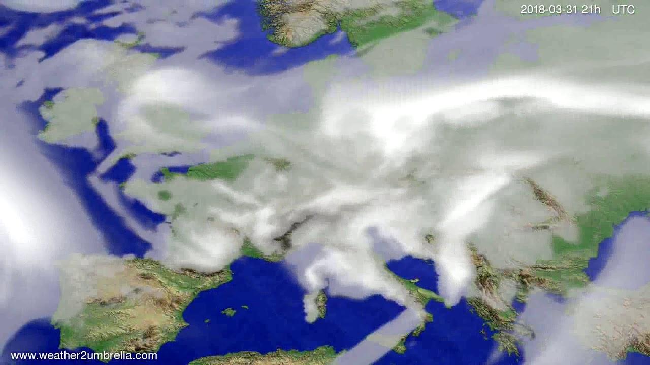 Cloud forecast Europe 2018-03-28
