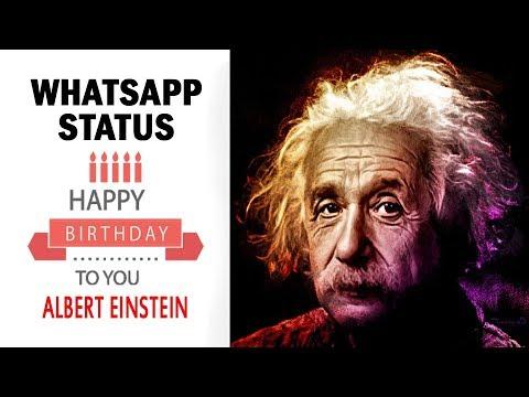 Happy Birthday Einstein | Whatsapp Status Video | अल्बर्ट आइंस्टीन जन्मदिन मुबारक 2019