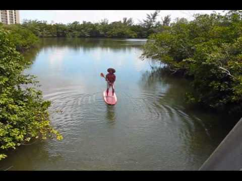 build your own Stand Up Paddleboard.. River testing the Board
