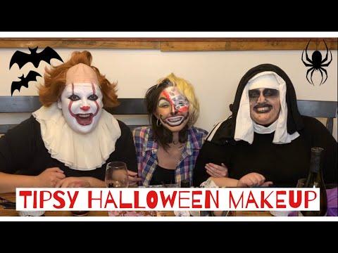 Tipsy Halloween Makeup Challenge | Tritober Ep. 2