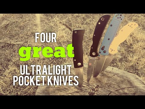 Four Ultra Light Awesome EDC Knives (all Under 70 Grams!)