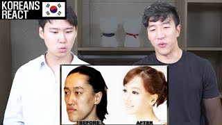 Korean Plastic Surgery Before and After Reaction by Koreans!!