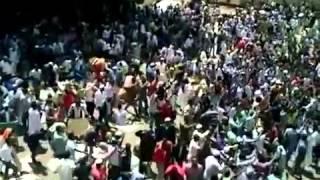 Ethio Muslims strong Demonstration at Anawar Majid Jumaa Mar-1-2013