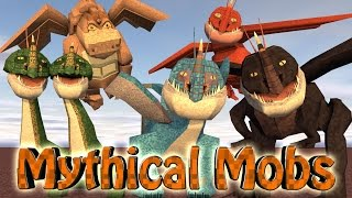 Minecraft | MYTHICAL CREATURES MOD Showcase! (Huge Bosses, New Mobzilla, CrazyCraft)
