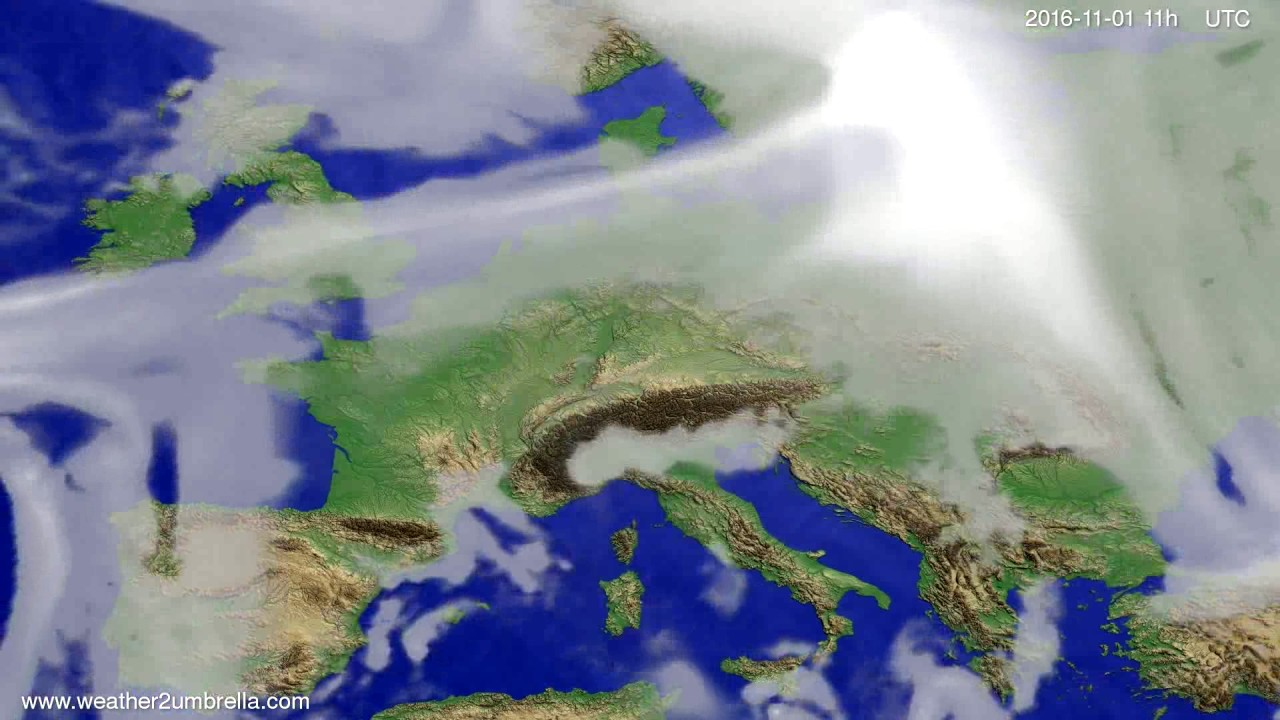 Cloud forecast Europe 2016-10-29