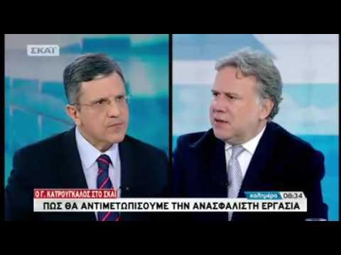 Γ.Κατρούγκαλος : Αντικειμενικό σύστημα εισφορών – Πληρωμή μισθών και εισφορών στην τράπεζα