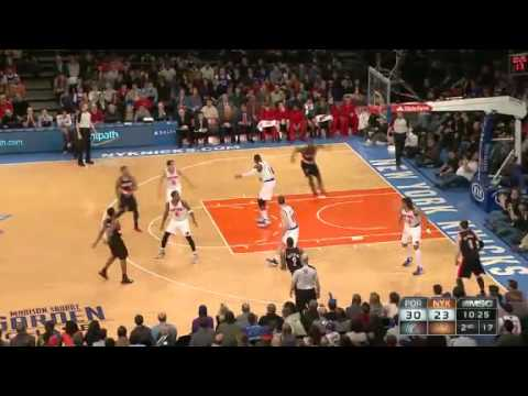 Ronnie Price to JJ Hickson Alley Oop Dunk against Knicks