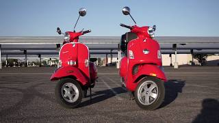 9. Then and Now: Vespa PX200 and Vespa GTS 250ie