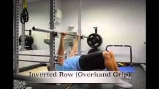 Exercise Index: Inverted Row (Overhand Grip)