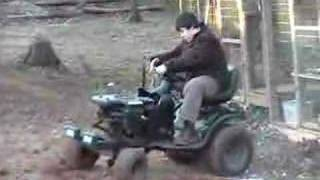 6. plowing the gardin with big black