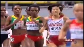 Tirunesh Dibaba(Ethiopian Queen) In Moscow WC 2013