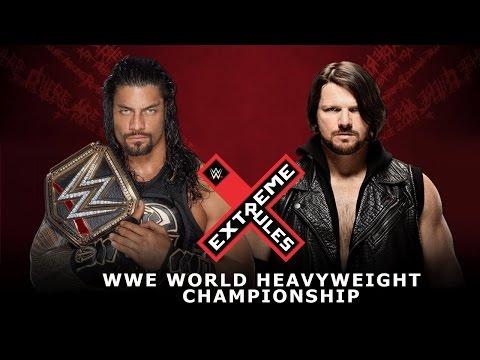 WWE Extreme Rules 2016 Roman Reigns vs AJ Styles (WWE World Heavyweight Championship) - WWE2K16
