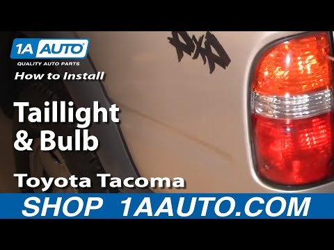 How To Install Replace Taillight and Bulb Toyota Tacoma 01-04 1aauto.com