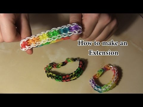 How to make – Rainbow Loom Bracelet Extension