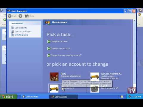 Working With Windows XP User Accounts