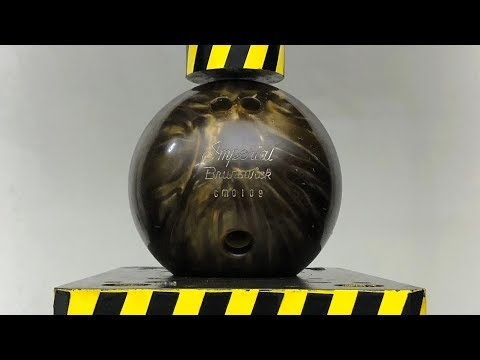 EXPERIMENT HYDRAULIC PRESS 100 TON Vs Bowling Ball