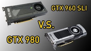 Тест видеокарт: NVIDIA GTX 960 SLI vs GTX 980 1440p Benchmarks