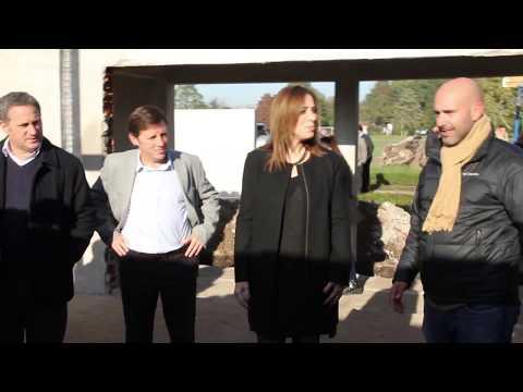 Vidal visitó la obra de la Casa del Niño