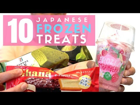 Japanese Convenience Store | Top 10 Must-Try Ice Cream (видео)