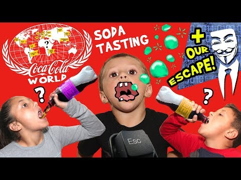 Stopping People & Drinking 60+ Flavors of Soda @ World of Coca Cola ATLANTA, GA Family Vlog # 2