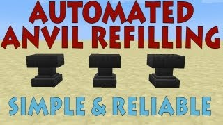 Anvil Refilling in Minecraft 1.5 - Simple&Reliable [Tutorial]