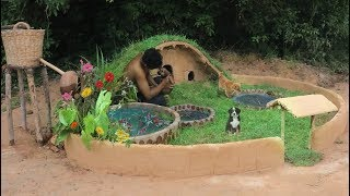 Add Mini Red Fish Pond in front of Dog House
