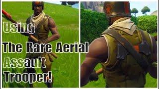 Using The *Rare* Aerial Assault Trooper Skin! (Fortnite Battle Royale)