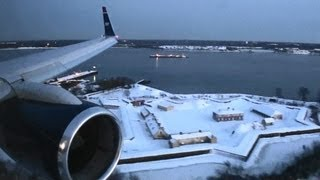Download Lagu Beautiful HD 757 Winter Sunset Landing in Philadelphia!!! Mp3