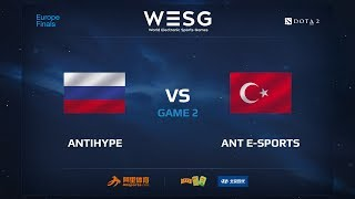 AntiHype против ANT e-sports, Вторая карта, WESG 2017 Dota 2 European Qualifier Finals