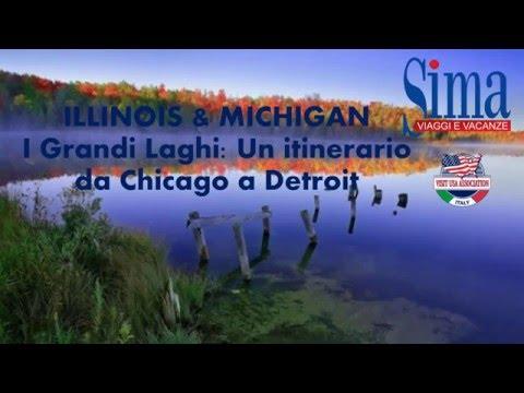 Video ILLINOIS AND MICHIGAN I Grandi Laghi: un itinerario da Chicago a Detroit (17/3/2016)