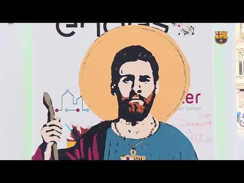 Messi se convierte en 'santo' (VIDEO)