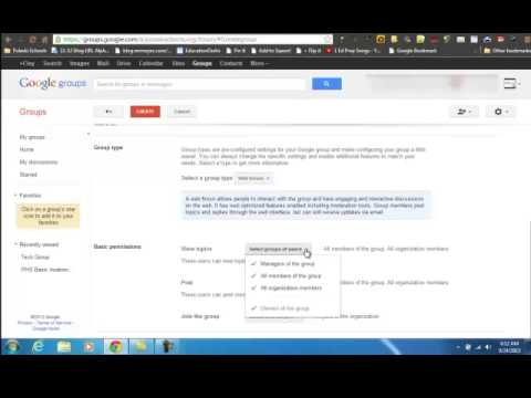 how to create google group